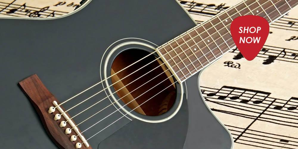 Black Satin Acoustic guitar with Cutaway